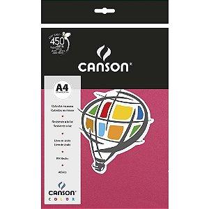 Papel Colorido A4 Canson Color Rosa Escuro 180g 10 Folhas