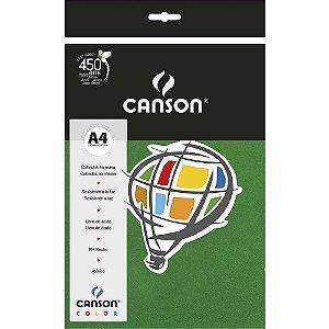 Papel Colorido A4 Canson Color Verde Escuro 180g 10 Folhas