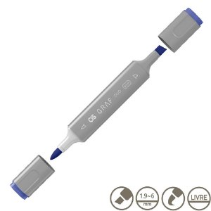 Marcador Cis Graf Duo Brush Cobalt Blue 71