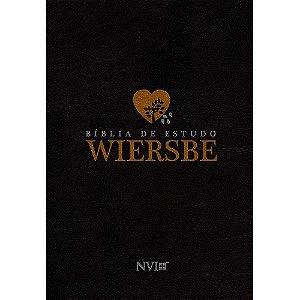Bíblia De Estudo Wiersbe Nvi - Capa Luxo Preta