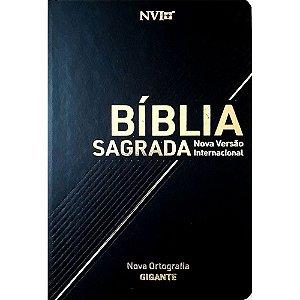 Bíblia Sagrada Nvi Letra Gigante - Semi Luxo Preta