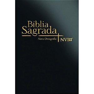 Bíblia Sagrada Nvi Grande Nova Ortortográfia - Capa Semi Luxo Preta
