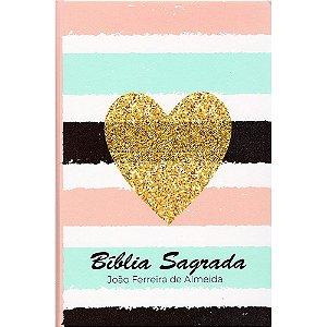 Bíblia Rc Grande 1cor Semi-Luxo - Listrada Coração
