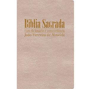 Bíblia Sagrada Rc Gigante Com Dicionário E Concordância - Capa Luxo Marfim Perolado