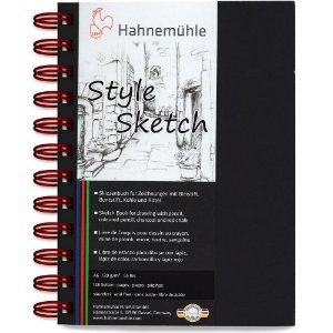 Caderno A6 Style Sketch Hahnemuhle 120 g/m² 64Fls Espiral Vermelho