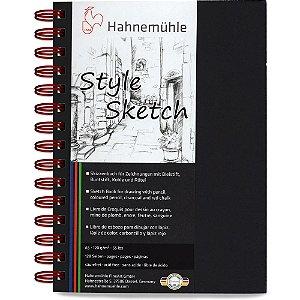 Caderno A5 Style Sketch Hahnemuhle 120 g/m² 64 Fls Espiral Vermelho