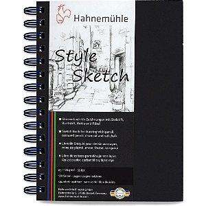Caderno A5 Hahnemuhle Style Sketch 120 g/m² 64 Fls Espiral Azul