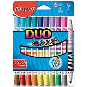 Estojo 10 Canetas Maped Hidrografica Color Peps Duo 20 Cores