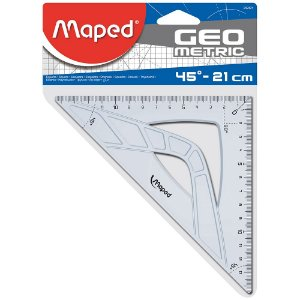 Esquadro Maped Geometric 45° - 21cm 242421