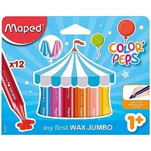 Giz De Cera Maped Color Peps Jumbo 12 Cores