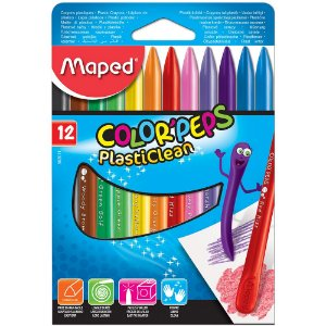 Giz de Cera Maped Color Peps Plasticlean 12 Cores
