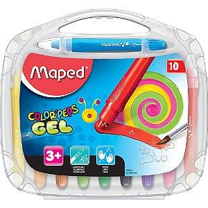 Giz De Cera Maped Color Peps Gel Aquarelável C/10 Cores