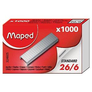 Grampos Maped 26/6 Caixa C/ 1.000 Unidades 324605