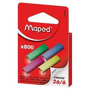 Grampos Coloridos 26/6 Caixa C/800 Un Maped 324806