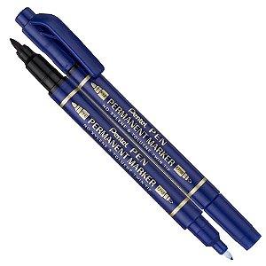 Marcador Permanente Ponta Dupla Azul - N75W-C