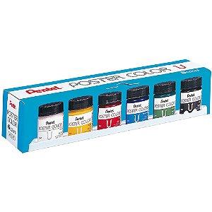 Tinta Poster Color Com 6 Cores - WPU2-6
