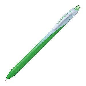 Caneta Energel Wave Retrátil Verde Limão 0,7mm Pentel