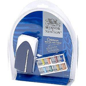 Aquarela Em Pastilha Winsor & Newton Cotman Mini Plus C/8 Cores 0390396