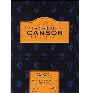 Bloco Canson Heritage Aquarela Textura Fina 23x31 12fls 300g