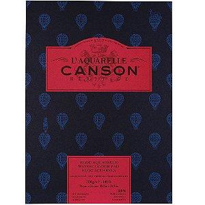 Bloco Canson Heritage Aquarela Textura Satinada 26x36 12fls 300g