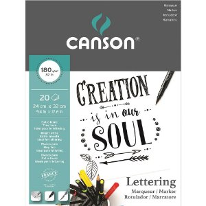 Bloco Marker Lettering Canson 24x32 20 Fls 180g