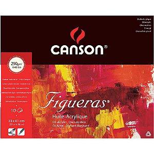 Bloco Figueras Canson Óleo 33x41 10fls 290g