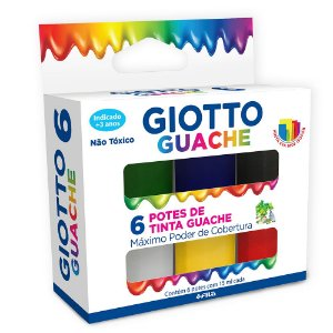 Tinta Tempera Guache Giotto 6 Cores 15ml