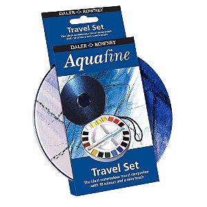 Aquarela Pastilha Aquafine Lata 18 Cores