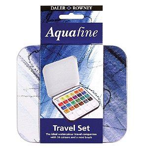 Aquarela Pastilha Aquafine Lata 24 Cores