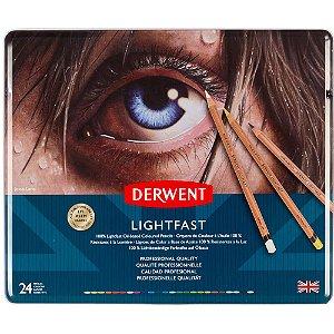 Lápis De Cor Permanente Lightfast 24 Cores Estojo Lata 2302720