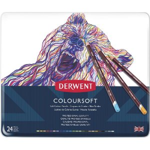 Lápis De Cor Permanente Coloursoft 24 Cores Estojo Lata 0701027