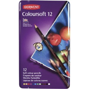 Lápis De Cor Permanente Coloursoft 12 Cores Estojo Lata 0701026
