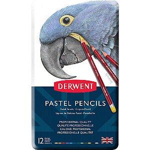 Lápis De Cor Pastel 12 Cores Estojo Lata 32991