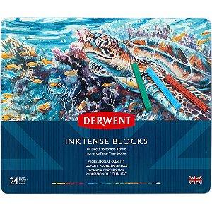 Giz Pastel Inktense Blocks Aquarelável 24 Cores Estojo Lata 285536