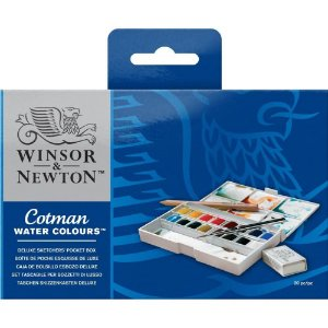 Aquarela Em Pastilha Winsor & Newton Cotman Deluxe Sketch C/20 Peças 0390060