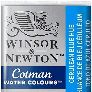 Aquarela Em Pastilha Cotman Winsor E Newton Avulso Cerulean Blue 0301139