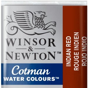 Aquarela Em Pastilha Cotman Winsor E Newton Avulso Indian Red 0301317