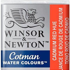 Aquarela Em Pastilha Cotman Winsor E Newton Avulso Cadmium Red Hue 0301095