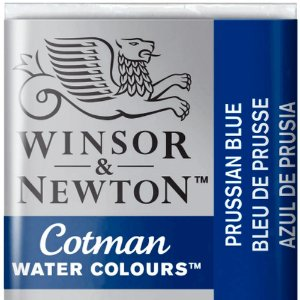 Aquarela Em Pastilha Cotman Winsor E Newton Avulso Prussian Blue 0301538