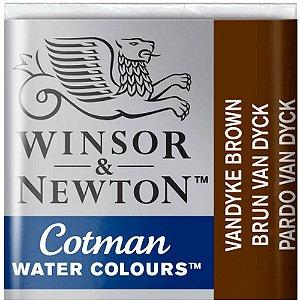 Aquarela Em Pastilha Cotman Winsor E Newton Avulso Vandyke Brown 0301676