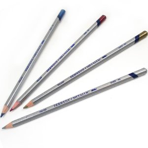 Lápis De Cor Aquarelável Metallic Unitário Silver 295302