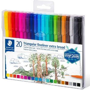 x20 Canetas Staedtler Triplus Extra Broad Cores 0.8mm