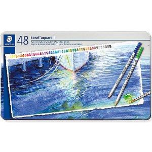 Estojo Lápis Cor Staedtler Aquarelavel Karat 48 Cores Aquarell