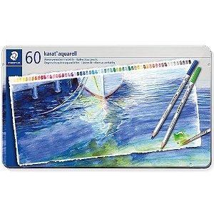 Estojo Lápis De Cor Staedtler Aquarelavel Karat 60 Cores Aquarell