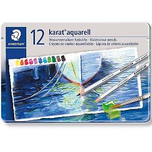 Estojo Lápis De Cor Staedtler Aquarelavel Karat 12 Cores Aquarell
