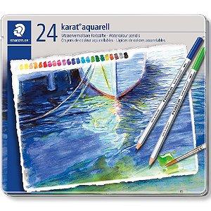 Estojo Lápis De Cor Aquarelavel Karat 24 Cores Staedtler Aquarell