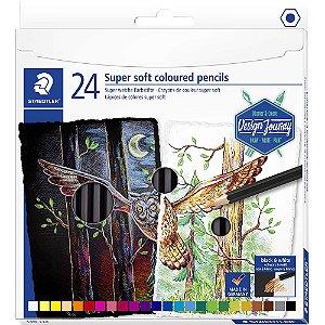 Caixa Lapis De Cor Super Soft 24 Cores Staedtler