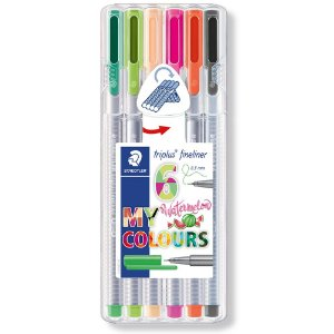x6 Canetas Staedtler Triplus Fineliner 0.3mm My Watermelon