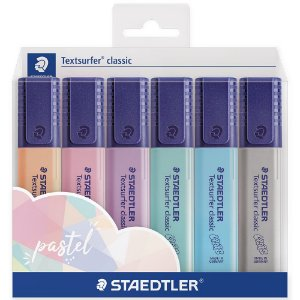 6x Staedtler Marca-Texto Textsurfer Classic Cores Pastel