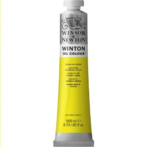 Tinta Óleo Winton Winsor & Newton Cadmium Lemon Hue Tubo 200ml